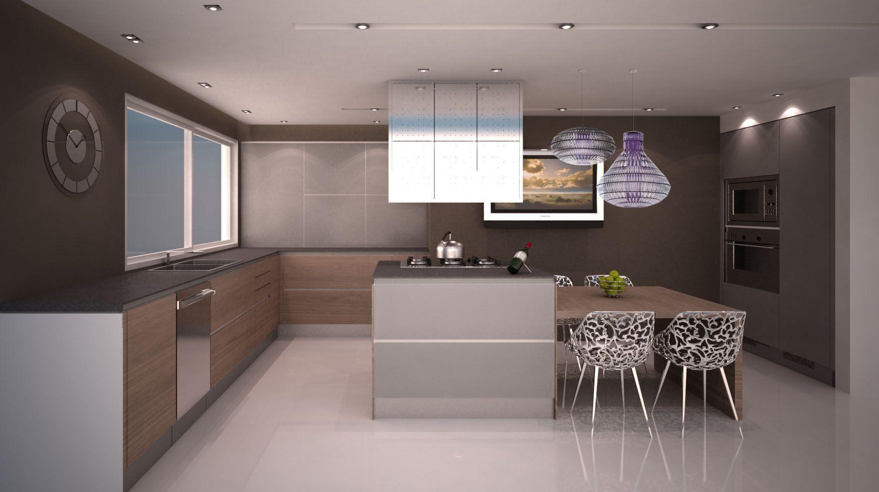 PR9 (proyecto residencial): mobiliario + cocina + iluminación #dgla #maracaibo #render