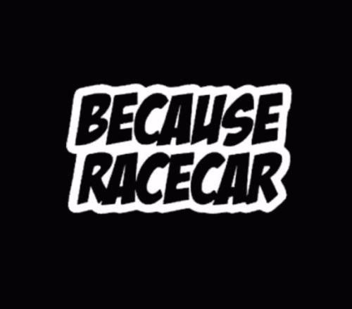 Because Race Car Vinyl Window Sticker Decal Funny Jdm Vinyl - Custom race car window decalsreal women usepedals sticker funny jdm honda girl race car