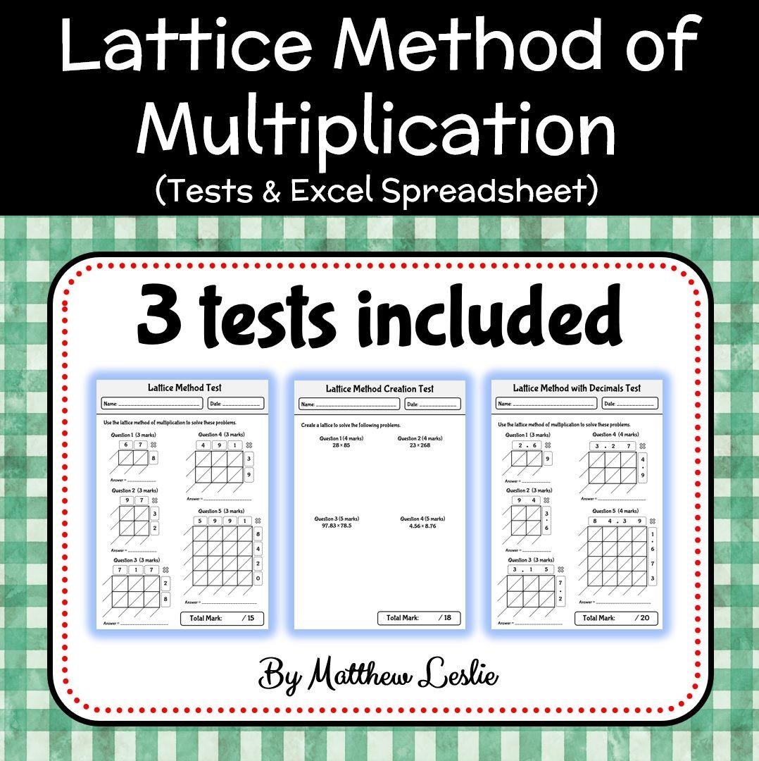 Pin On Lattice Method Of Multiplication Mega Bundle