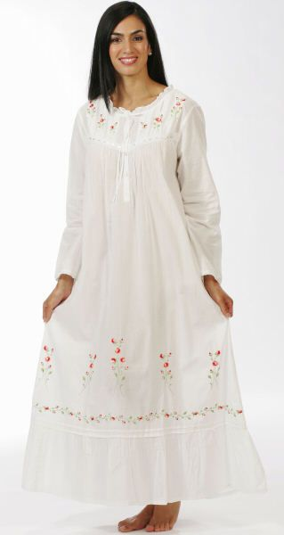 0791de6932c My Favorite Cotton Gowns, Cotton Sleepwear, White Long Sleeve, White Cotton,  Night