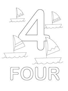 number coloring pages 4
