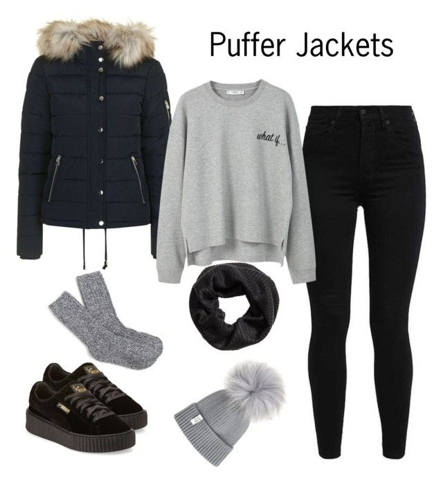 """""""Sin título #692"""" by karlamichell on Polyvore featuring moda, Topshop, Levi's, MANGO, Puma y J.Crew"""