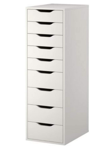 High Unit With Many Drawers Means Plenty Of Storage On Minimum Floor Space Package Height Is 5 0 Inches Package Leng In 2020 Ikea Alex Drawers Room Wanted Drawer Unit
