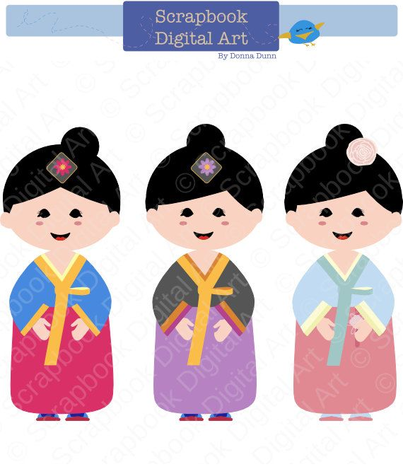 korean girl hanbok hanbok clip art hanbok by scrapbookdigitalart rh pinterest com clipart korean boy korea clipart
