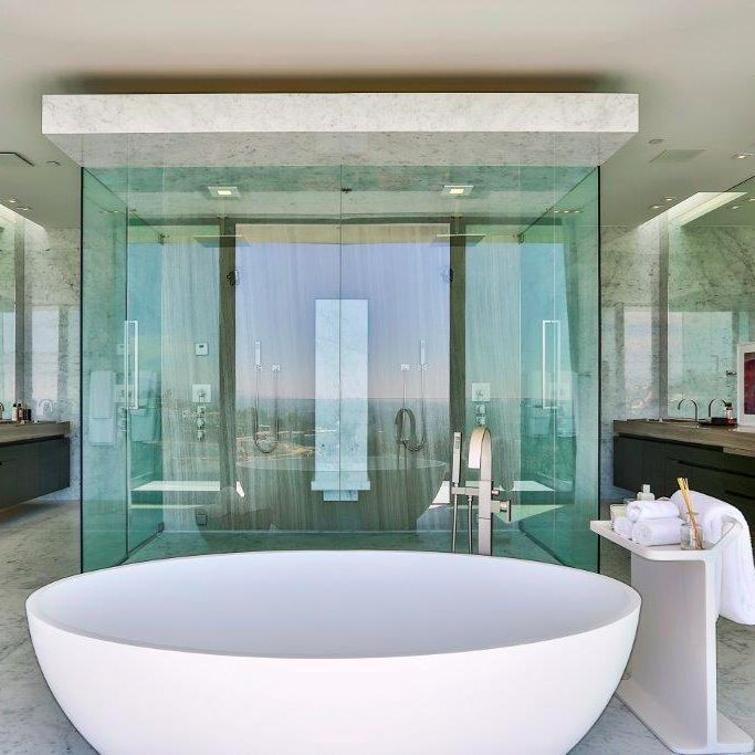 modern mansion master bathroom. The Beautifully Clean And Sophisticated Master Bathroom In This $38,000,000 Modern Mansion Bird Streets T