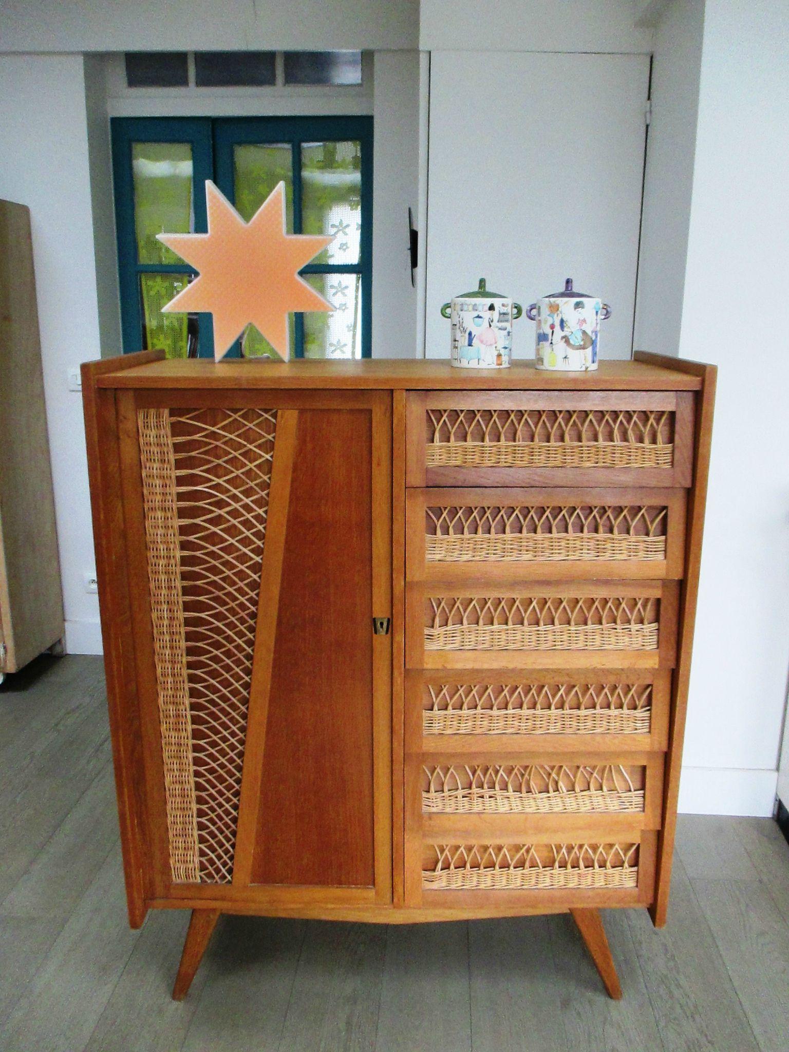 armoire-commode en rotin | rêve intérieur | pinterest | rotin