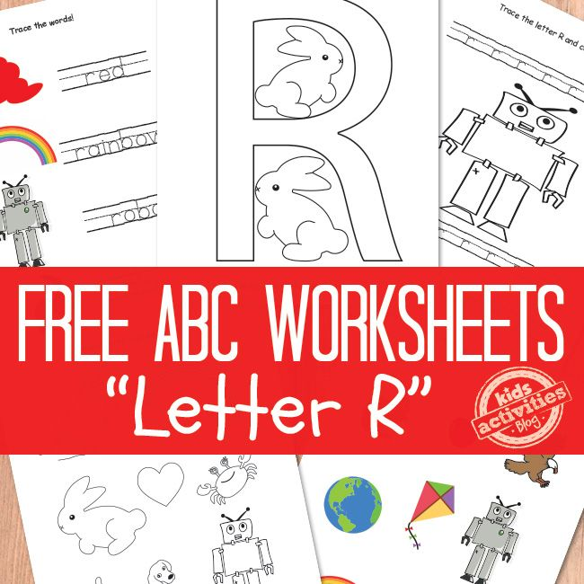 LETTER R WORKSHEETS FREE KIDS PRINTABLE | Pinterest