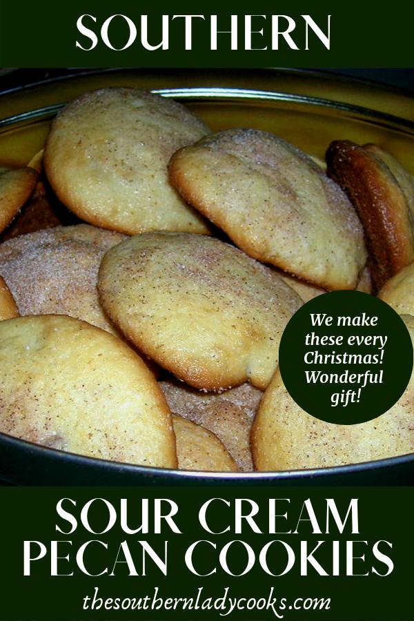 Southern Pecan Cookies Sour Cream Recipes Pecan Cookies Recipes