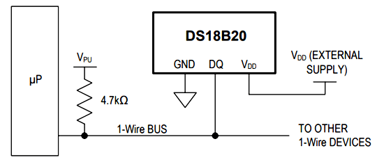 DS18B20 Microcontroller Circuit Diagram | Circuits | Arduino ... on