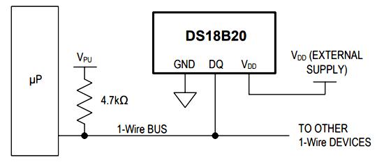 DS18B20 Microcontroller Circuit Diagram | Circuits