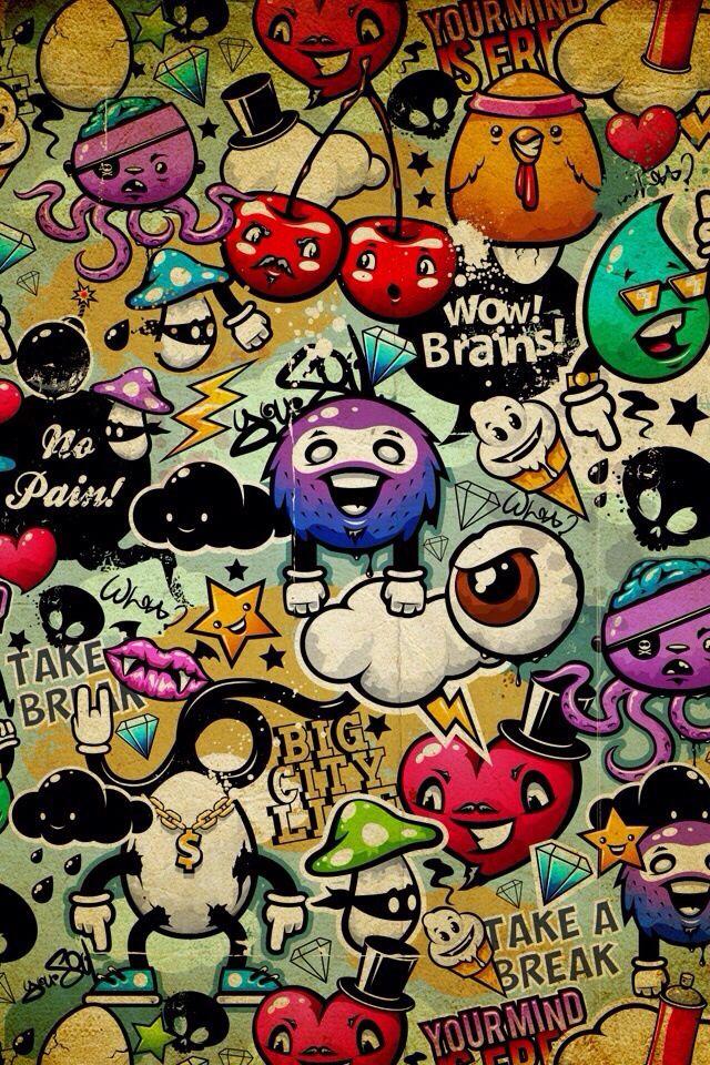 Coolness | Graffiti wallpaper, Wallpaper doodle, Graffiti ...