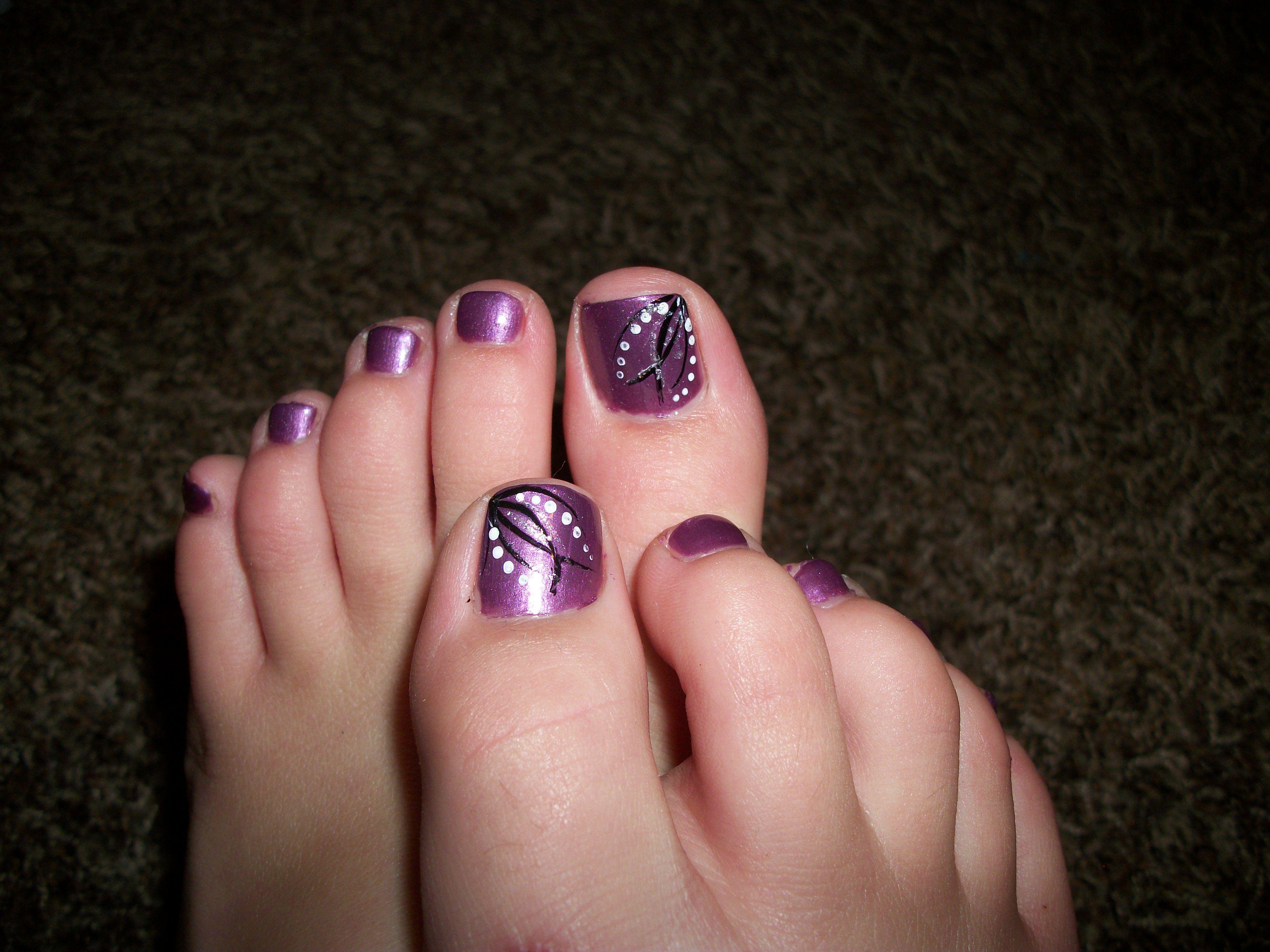 Purple Pedicure Pedicure Nail Designs Purple Pedicure Pedicure Nails