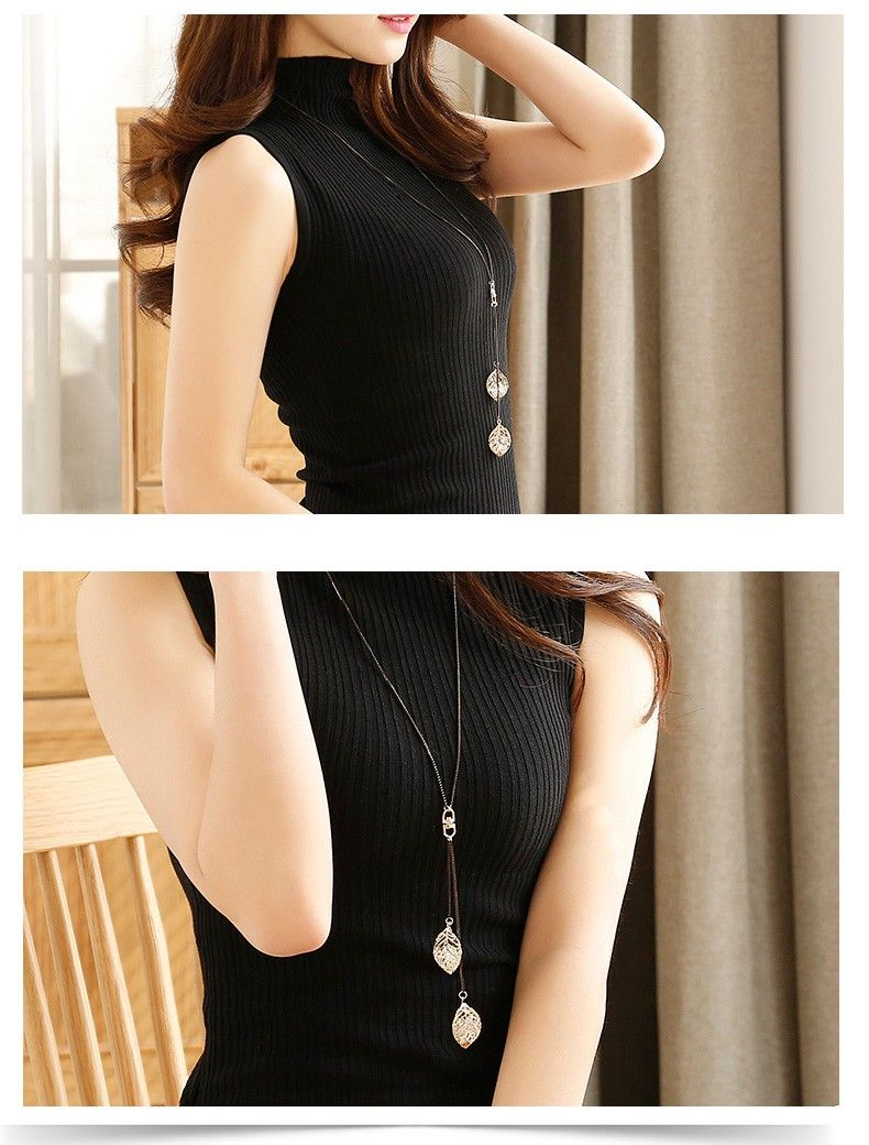 BUy Now with 7% discount Price Hot Looking Classic Leaf Tassel Long Necklace For Women.