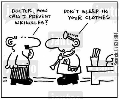 Cartoon Doctor how can I prevent wrinkles Are you getting enough beauty sleep