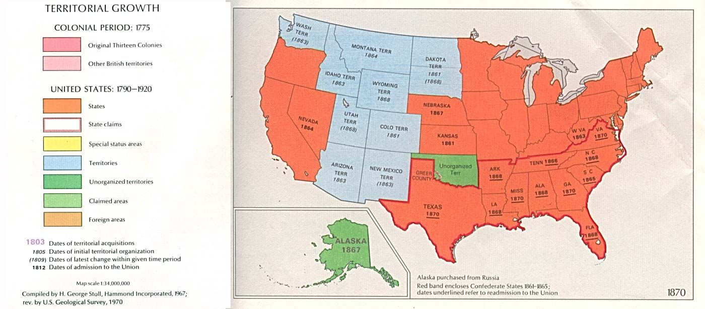 Us Map In 1870 Indian Territory Map 1870 | Historical Maps of the United States