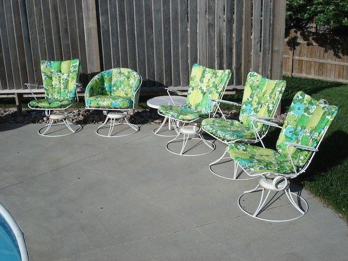 6 Pc Vintage Homecrest Mid Century Modern Metal Wire Patio Furniture Chairs Set Patio Furniture Chairs Patio Furniture Vintage Patio