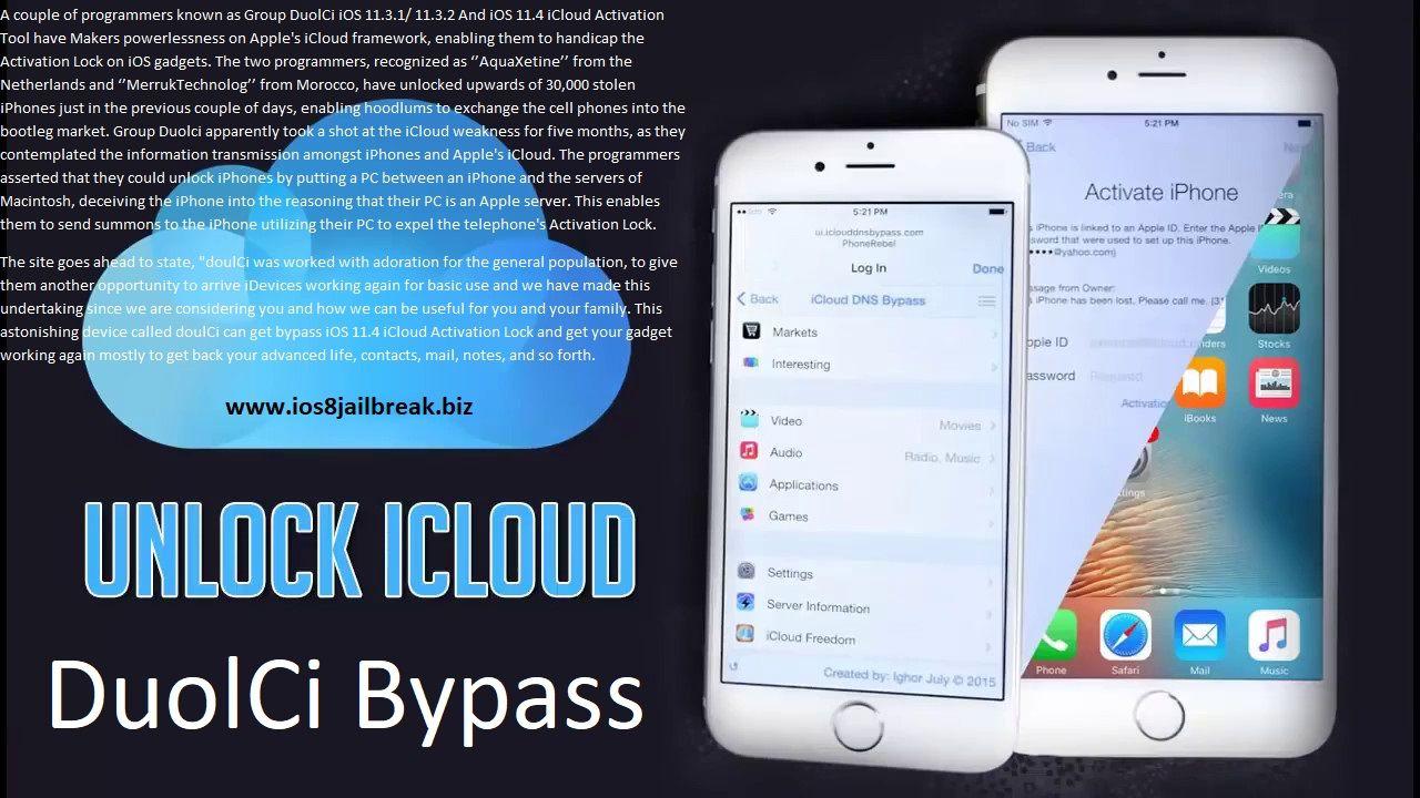 Duolci Ios 11 4 Bypass Icloud Icloud Unlock My Iphone Iphone