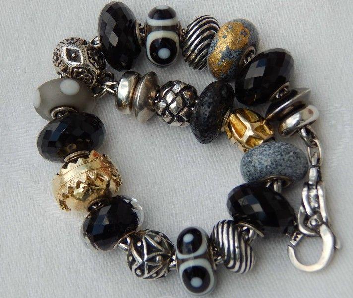 black u0026 grey by jackie packer troll beadsczech glassthomas