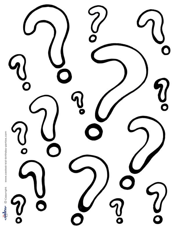 Printable Question Marks Coloring