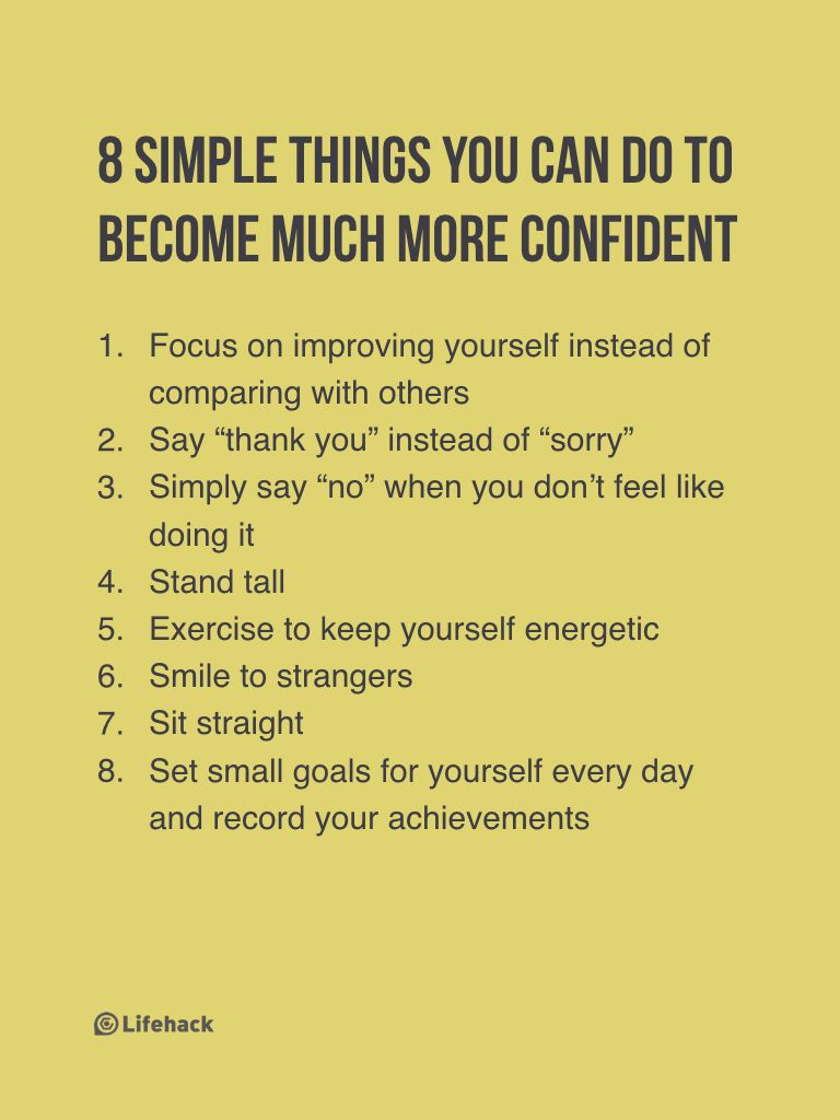 How to become more confident with yourself