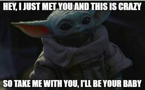 Pin By Sofiataverac On Baby Yoda Yoda Funny Yoda Meme Yoda