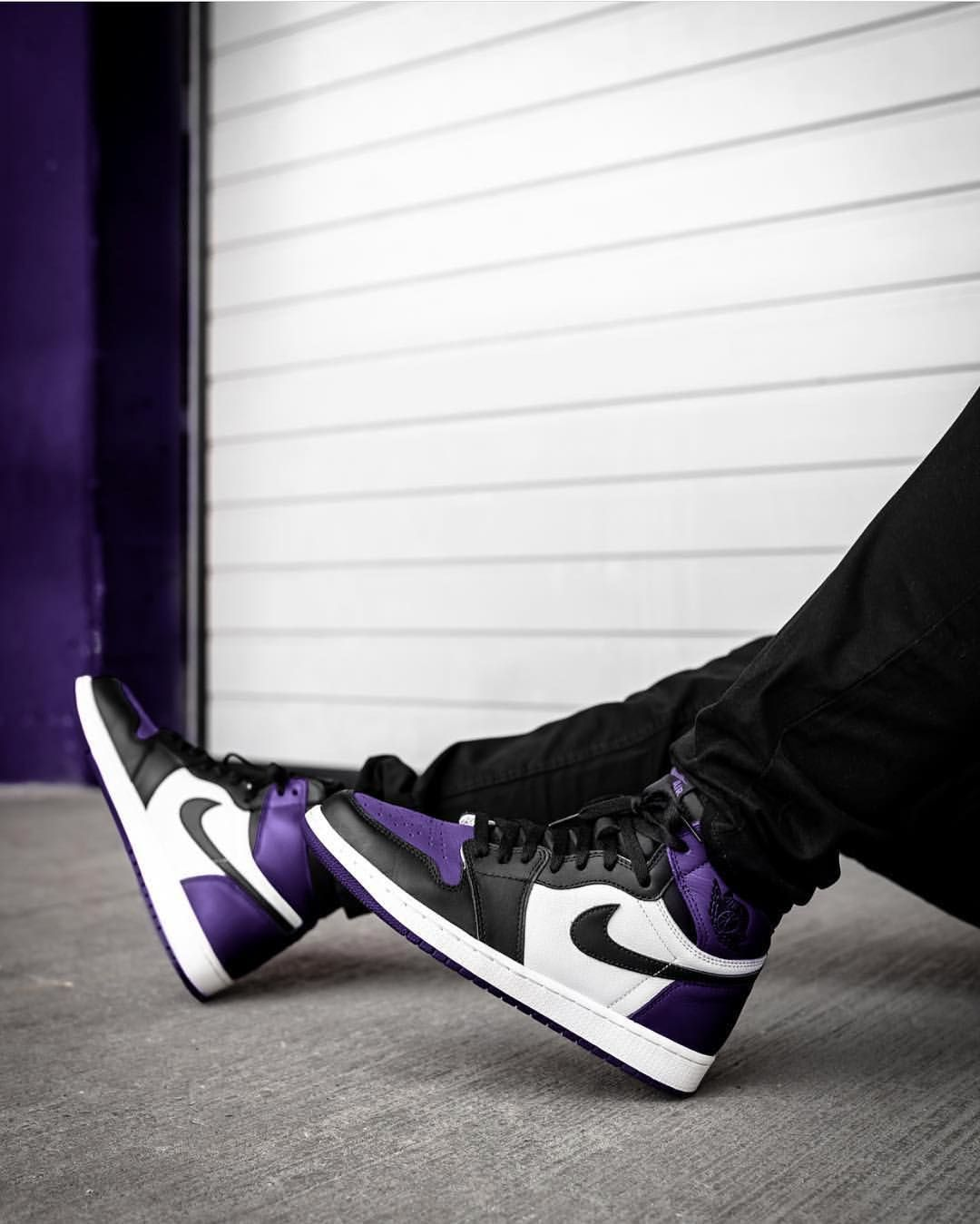 """823a8eb187afcd Sneaker Myth on Instagram  """"Nike Air Jordan 1  Court Purple     Pine Green  releasing  today 8am BST. Check out story for release links."""