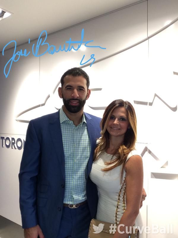 jose bautista and wife, curve ball