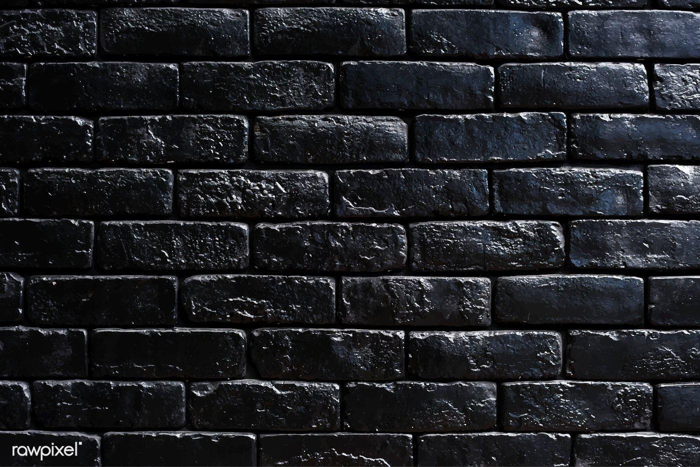 Download Premium Vector Of Black Brick Wall Textured Background Vector Black Brick Wall Black Brick Textured Walls