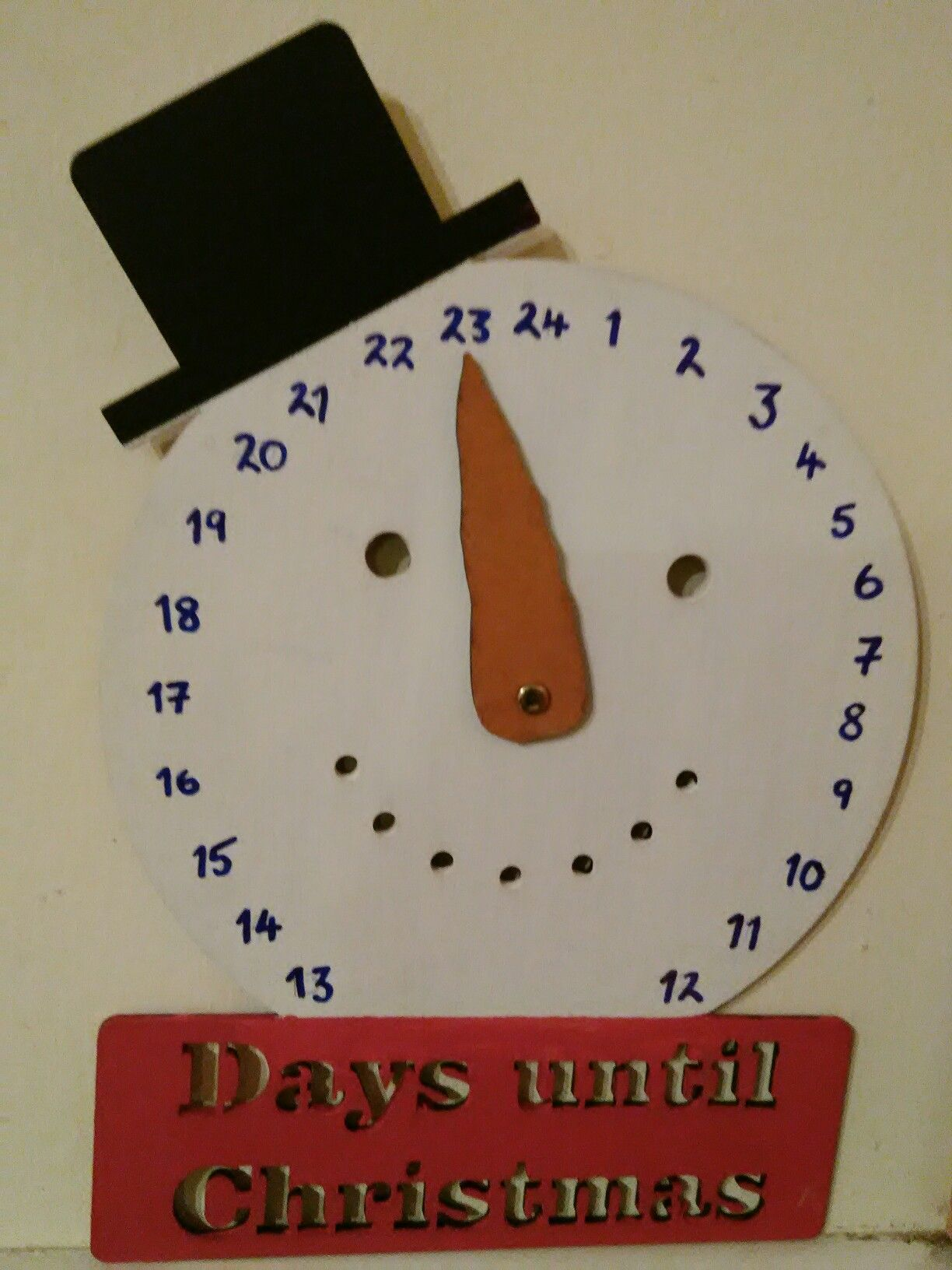 Christmas Countdown Clock  Template From Craft Fair