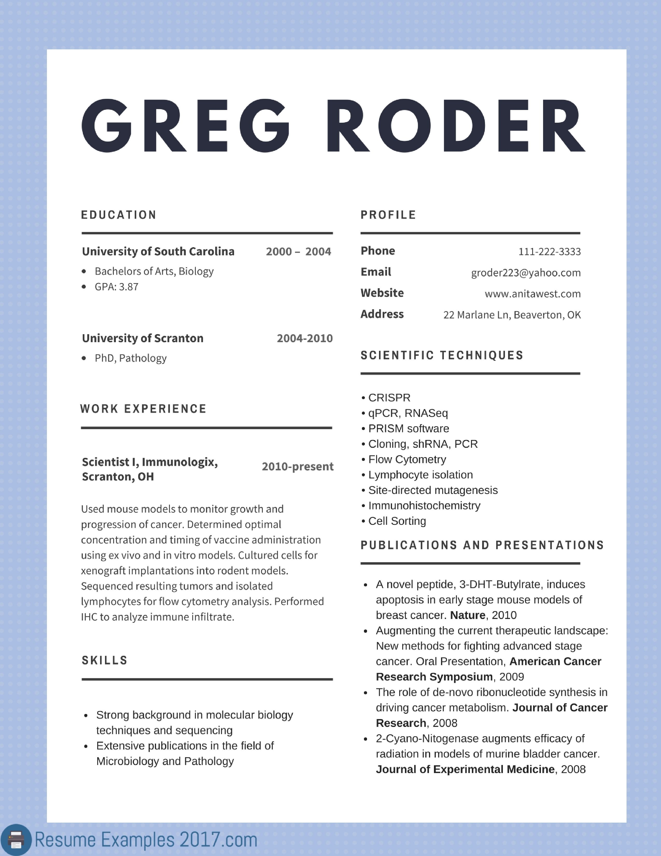 2017 for jobs | resume examples | pinterest | resume examples