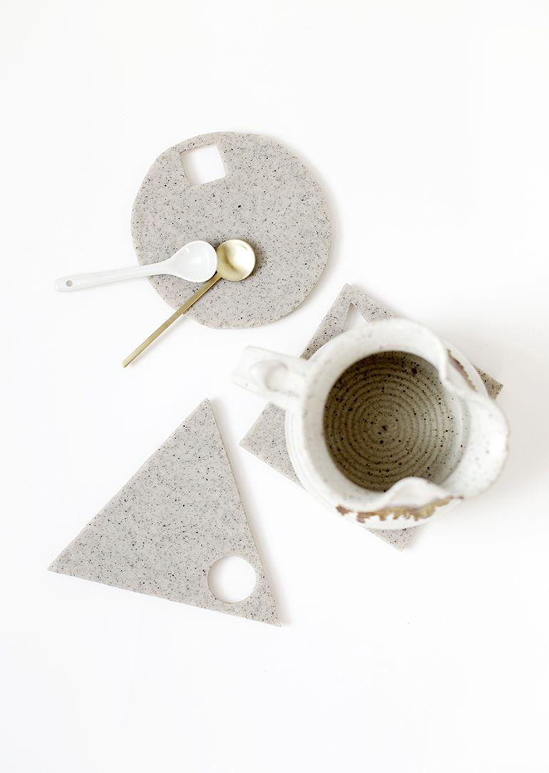 DIY Geometric Clay Trivets Tutorial