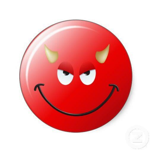 Shop devil smiley face classic round sticker created by tshirtmonkey