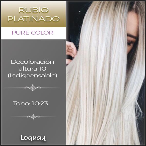 Rubios Extra Claros Los Obtienes Con Pure Color De Loquay Blonde Rubio Cabello Fórmulas Para Color De Cabello Matizador De Cabello Decoloración De Cabello