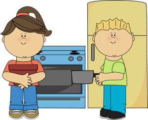 Family Time In The Kitchen Mary Rice Hopkins School Kids Images Clip Art Kids Clipart