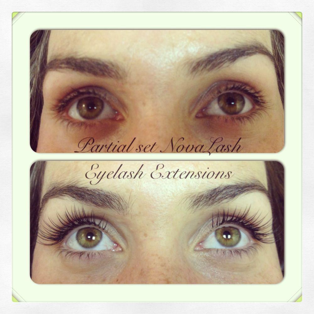 Partial Set Of Novalash Eyelash Extensions Eyelashes