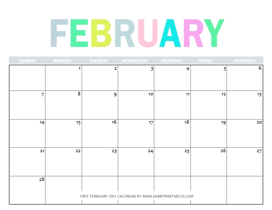 Free Printable February 2021 Calendar In Pdf 11 Best Designs In 2020 2021 Calendar Calendar Free Printables