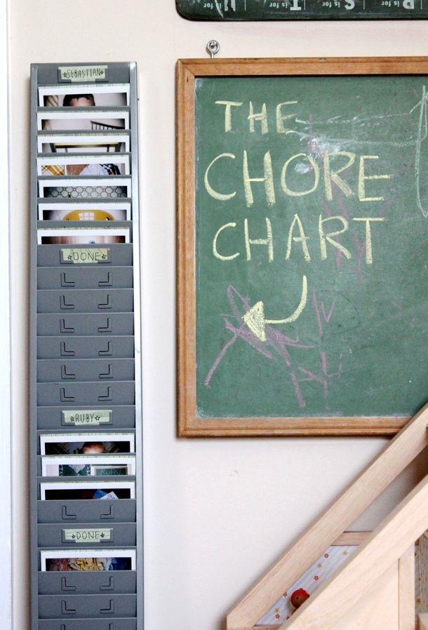 polaroid chore chart. Cutest chore chart ever. This even makes me want to do chores