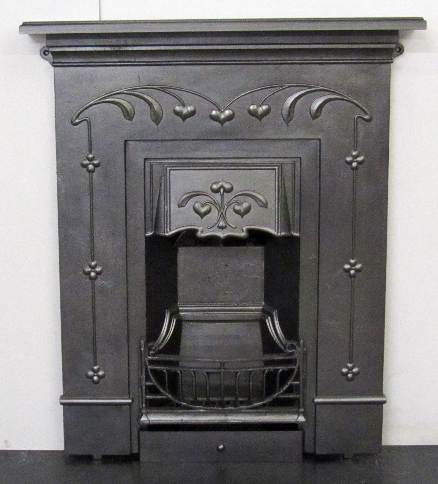 Original Antique Art Nouveau Cast Iron Fireplace Antique Fireplace Surround Antique Fireplace Art Nouveau
