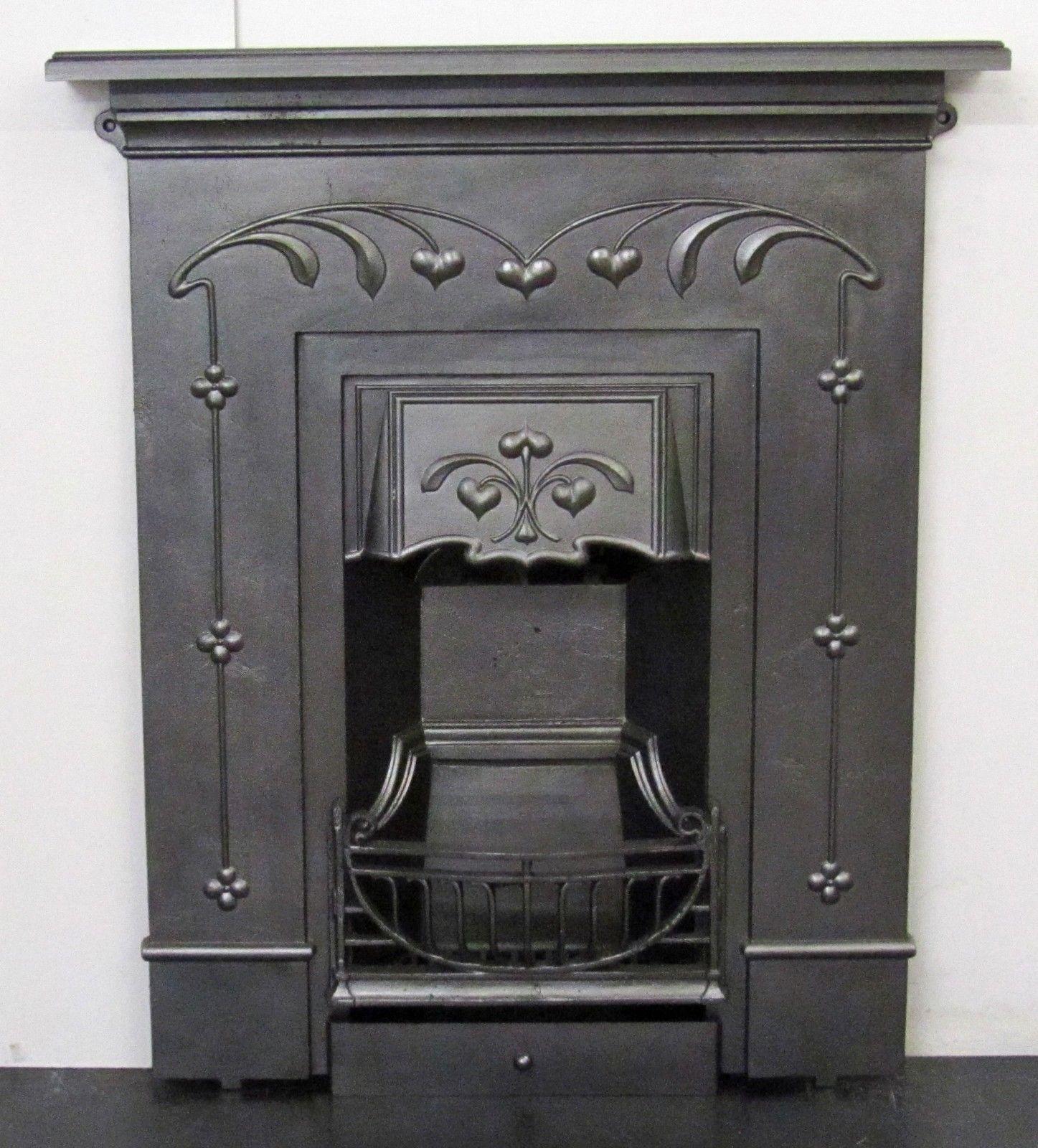 Original Antique Art Nouveau Cast Iron Fireplace Antique Fireplace Surround Antique Fireplace Art Nouveau