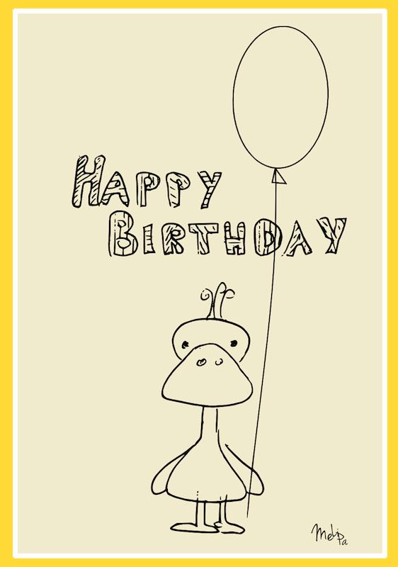 free printable Happy Birthday card Happy Birthday Karte – Free Happy Birthday Printable Cards