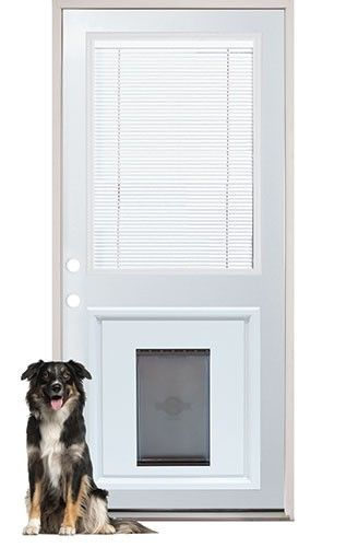 Internal Miniblind Back Door With Pet Doggy Door Pre Installed