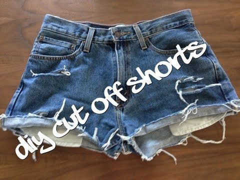 How to | diy distressed denim shorts | easy tutorial youtube.