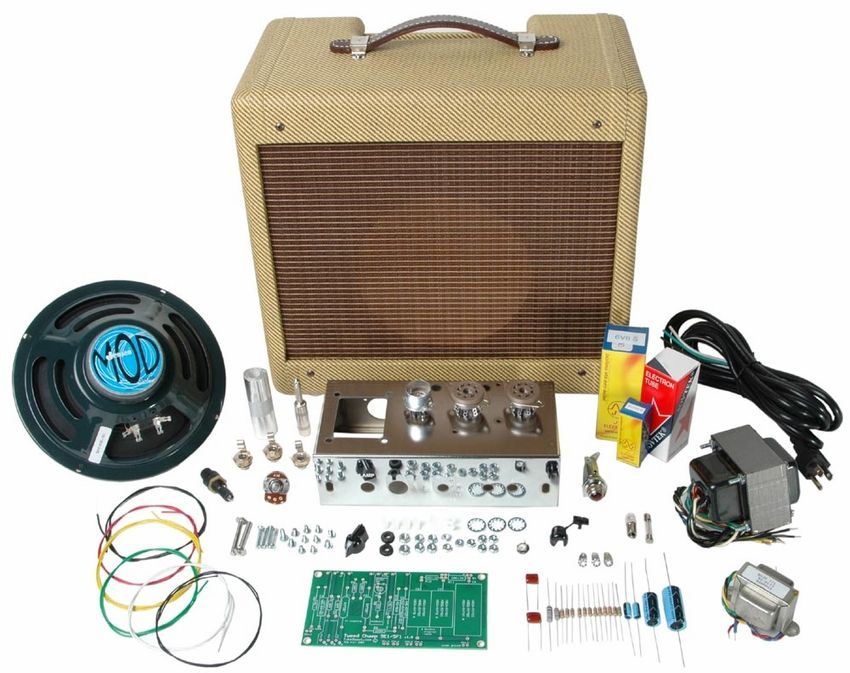 Champ fender tube depot kit diy class a guitar