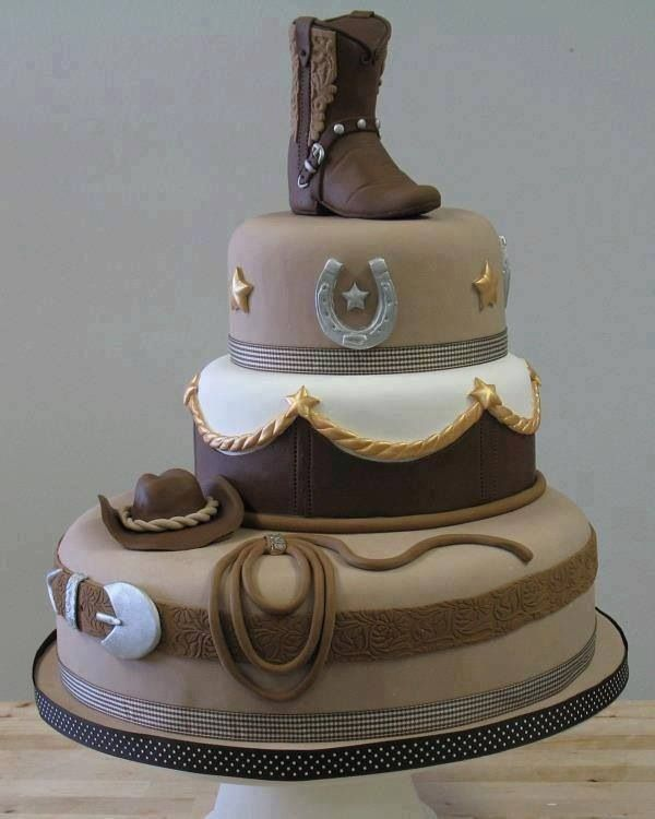 Western cake , I like the way this is positioned for the 3 tiers