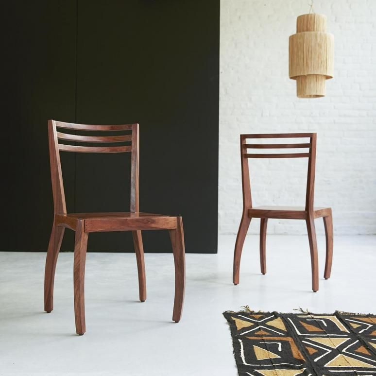 Chaise De Salle A Manger En Palissandre Meuble De Sejour Tikamoon Rosewood Chair Living Room Chairs Rosewood Dining Chairs