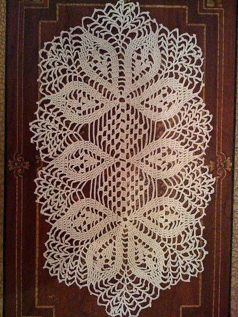 handmade crochet doily, oval | Carpeta, Patrones y Mantel