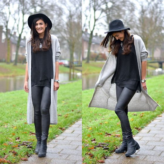 Maxi Cardigan, New Look Chunky Chelsea Boots, Shoeby Hat | Bota de ...
