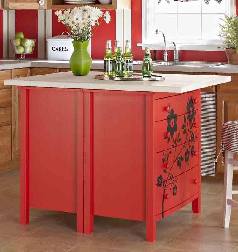 Make Your Own Kitchen Island Pinterest Dresser Gift Wrap - Making a kitchen island