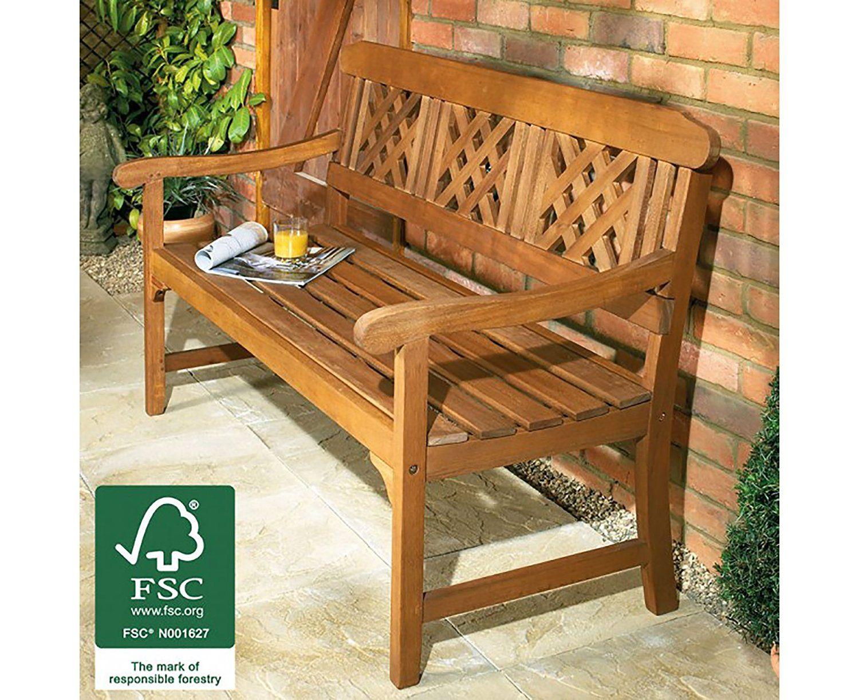 Robert Dyas FSC 3-Seater Fence Bench: Amazon.co.uk: Garden ...
