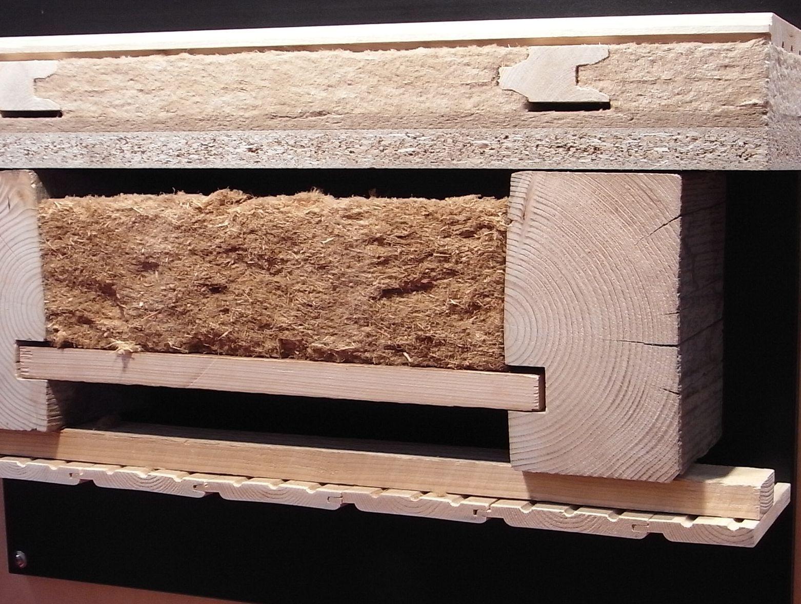 Aufbau Einer Holzbalkendecke Mit Dã¤Mmung Das Muster Zeigt Eine Sehr